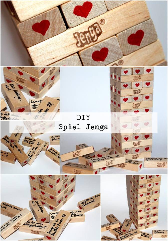 diy jenga spiel alle diys von diycarinchen pinterest jahrestag geschenke liebesgeschenke. Black Bedroom Furniture Sets. Home Design Ideas