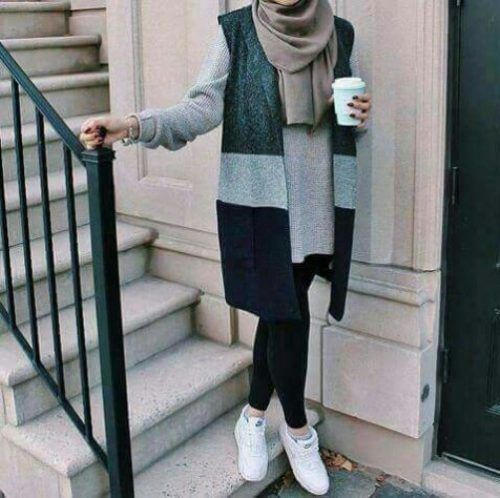 winter-cozy-hijab-chic- Winter hijab trends http://www.justtrendygirls.com/winter-hijab-trends/