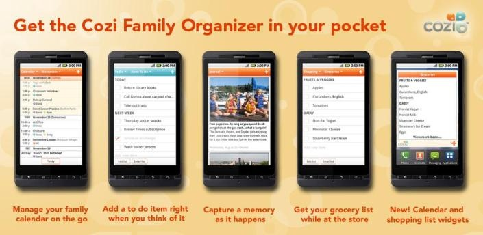 Cozi – family organizer  It is awesome, I wouldn't be with out it.