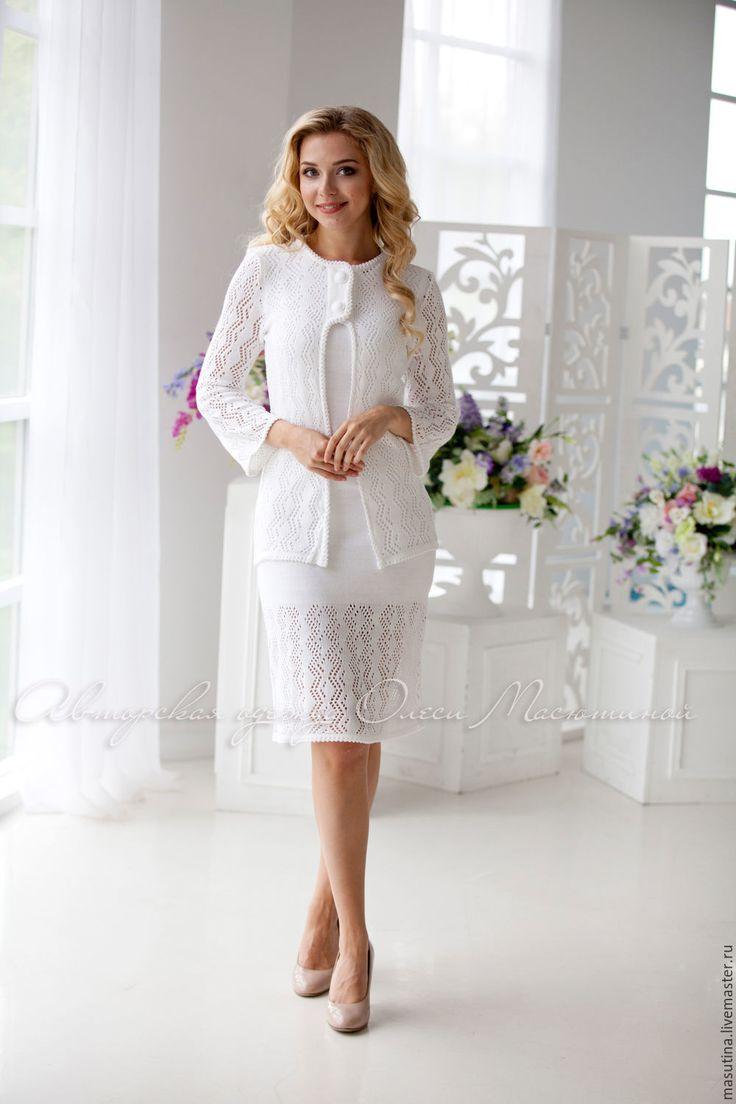 """Купить Костюм """"Марш Мендельсона"""" - белый, свадебный костюм, белый костюм, масютина олеся"""