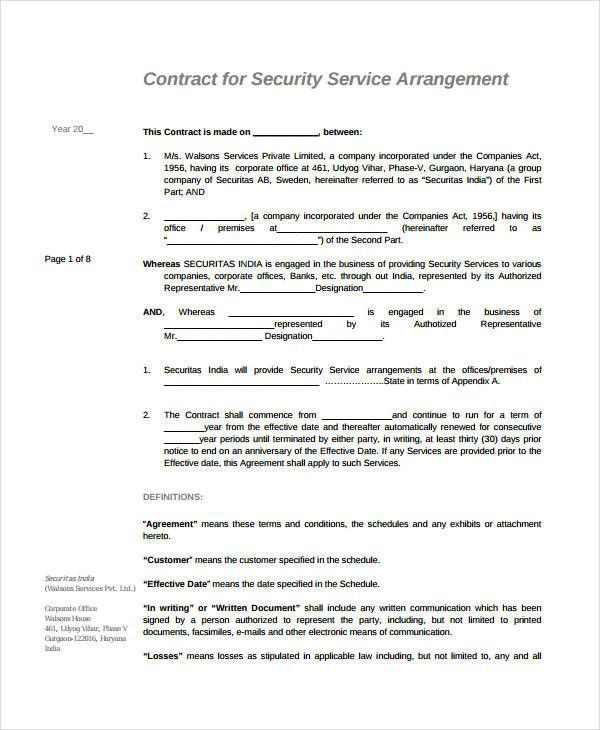 Free Service Agreement Template Contemporary 21 Simple Service