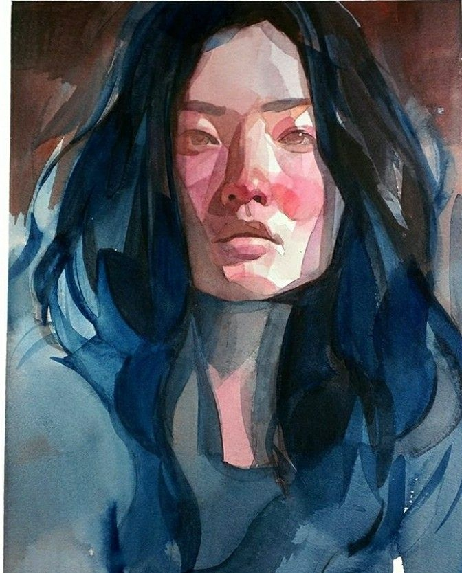 Pin By Ser On Retrat In 2019 Watercolor Portraits Watercolor