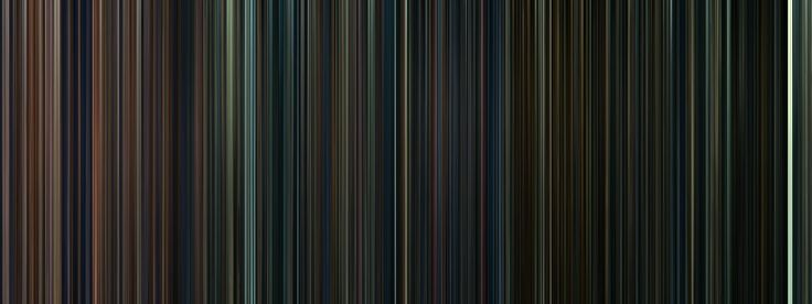 the frames from all of the Harry Potter movies condensed into a bar code of sorts.
