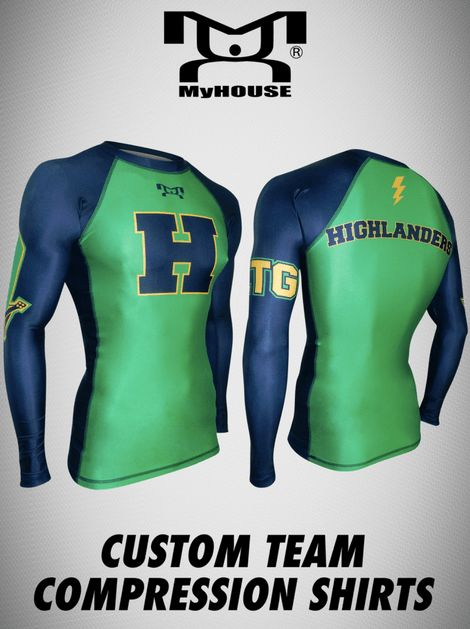 Choose from our wide range of template designs for a quick and easy experience designing your team compression shirts, with the help of our skilled and talented artists. MyHOUSE Sports Gear is the leading seller of custom #wrestling gear in the USA.