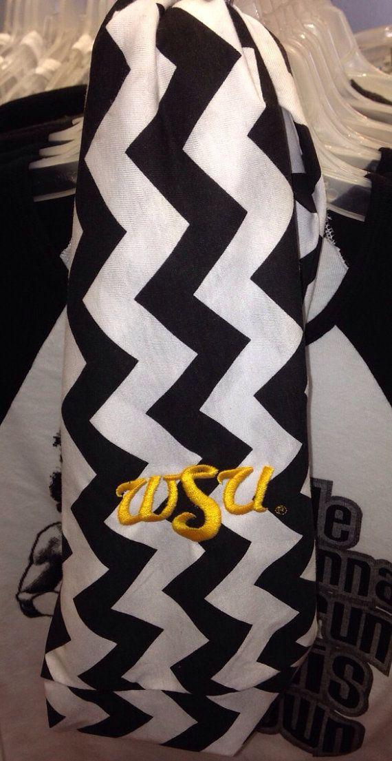 WSU Shockers Chevron Infinity scarf jersey knit by Wickeditch, $26.00