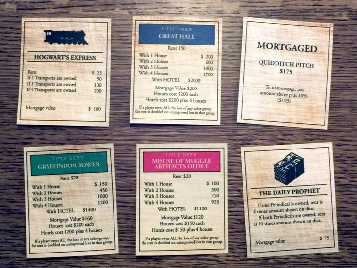 The 25+ best ideas about Harry Potter Monopoly on ...