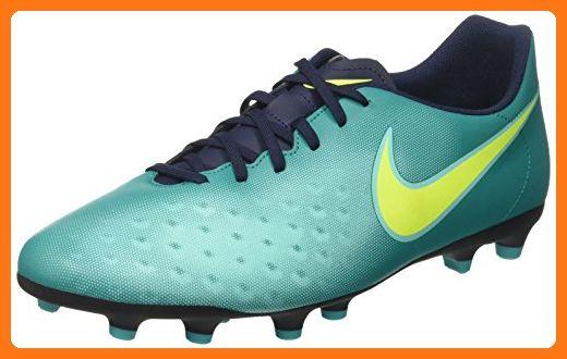 Nike JR Hypervenom Phade II FG, Chaussures de Football Mixte Adulte, Plateado (Pure Platinum/Black-Ghost Green), 38 1/2 EU