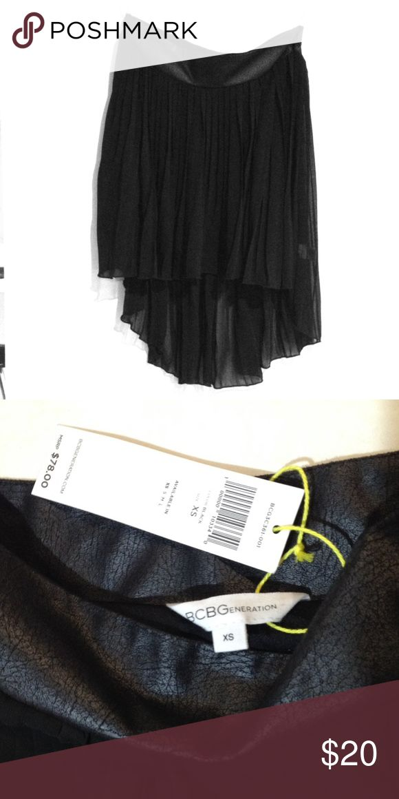 New BCBGeneration sheer black high low skirt New BCBGeneration black sheer high low skirt. 100% polyester, fully lined, machine washable. BCBGeneration Skirts High Low