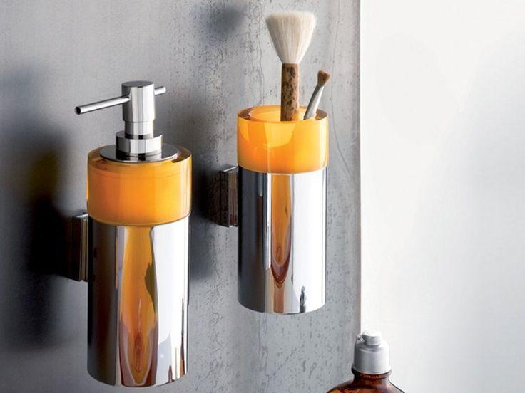 Distributeur de savon liquide / Porte-brosse à dents Collection Twin by Regia | design Bruna Rapisarda