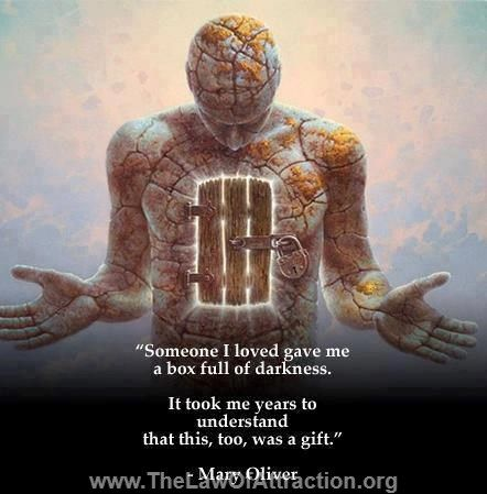"""Someone I loved gave me a box full of darkness. It took me years to understand that this, too, was a gift."" - Mary Oliver  -- Empower yourself and get a natural sense of self worth and self esteem with this free guided #meditation session: https://www.guidedmind.com/free-guided-meditation-mp3"