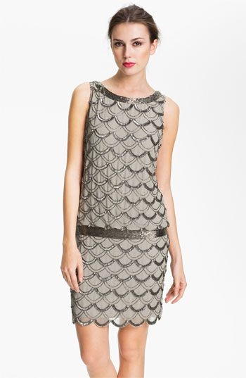 Adrianna Papell Beaded Chiffon Dress | Nordstrom  - this would not look good on me, but I think it is beautiful.