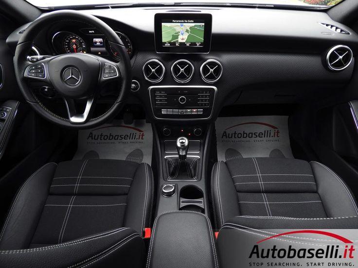 MERCEDES A180 D SPORT Solo 5.000km + Navigatore + Pelle + Bluetooth + Sedili sportivi + Sensori di parcheggio ant/post + Collision prevention assist + Climatizzatore + Start-stop + Volante multifunzione + ESP + Bracciolo + Garanzia Mercedes + del 11/2016