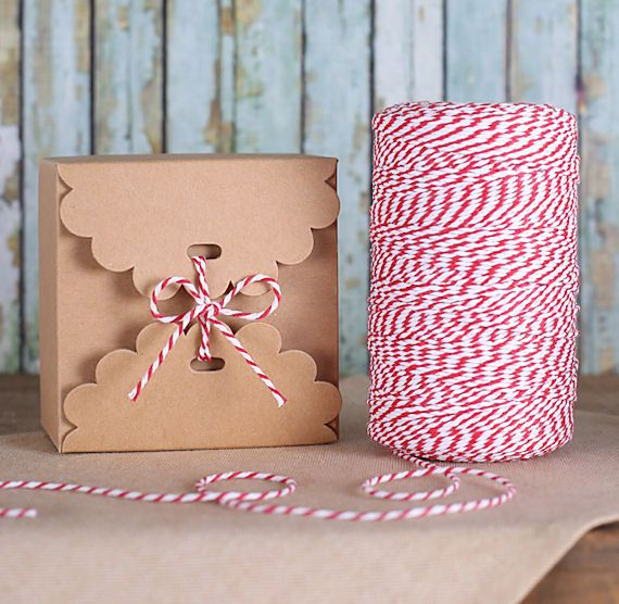 Brown Candy Box Kit, Small Kraft Boxes & Bakers Twine, Small Cookie Box, Christmas Goodie Box, Holiday Cookie Boxes, Bakery Box (5 ct)