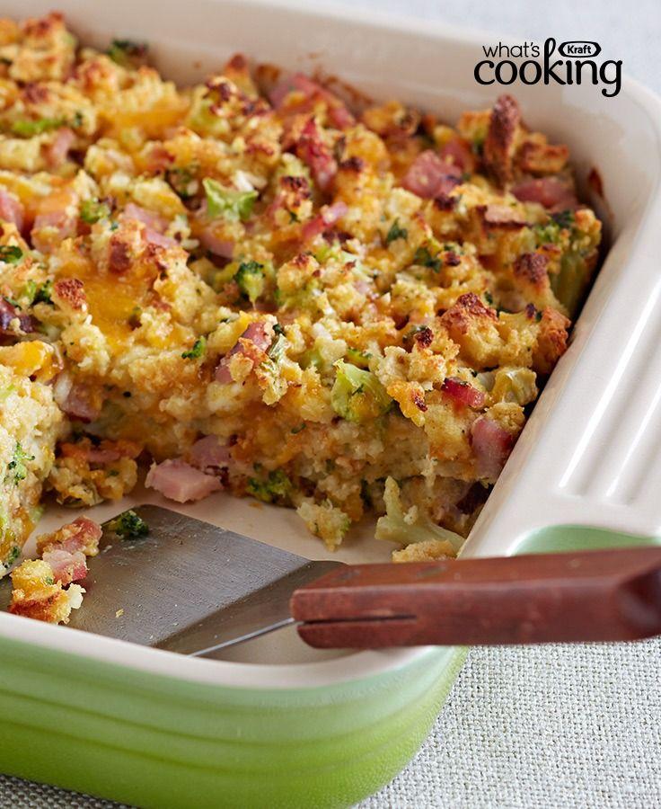 Ham and Cheese Casserole #recipe
