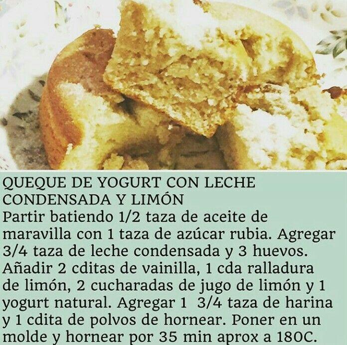 Queque de yogurt y leche condensada por Virginia De María