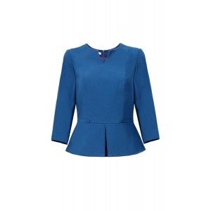 Kossmann - blue blouse with peplum