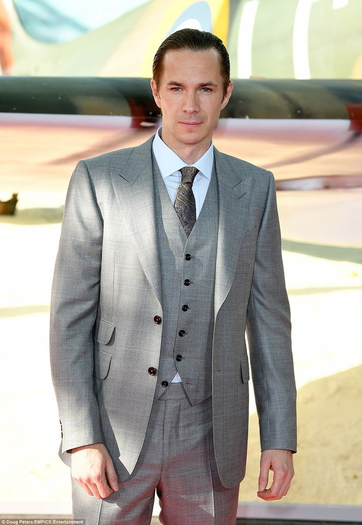 Making a statement: The LAMDA trained actor turned heads in the stylish three-piece suit, which accentuated his frame