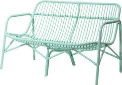 Cane 2 Seater Sofa Mint