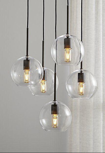 Lights & Lighting Frugal Modern Minimalist Clear Glass Ball Pendant Light Fixture Diy Home Deco Living Room Personalized Art Chrome Pendant Lampe27 Bulb