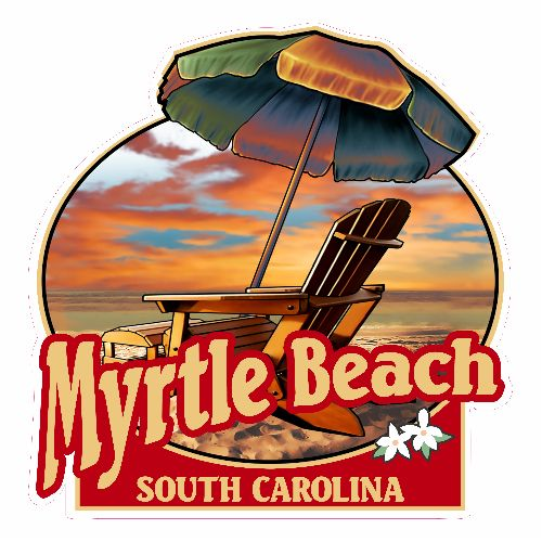 Get this Myrtle Beach Umbrella And Chair Beach Sticker online at the U.S. Custom Stickers Decal Store. Shop for high quality stickers at cheap prices. Buy here.
