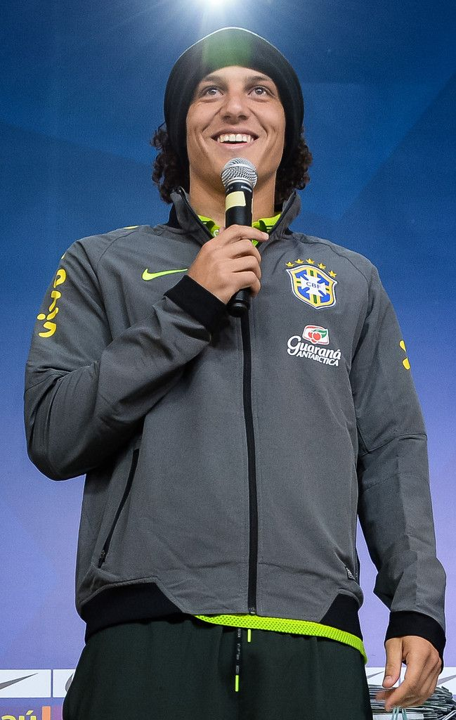 David Luiz Photos: Brazil Training Session