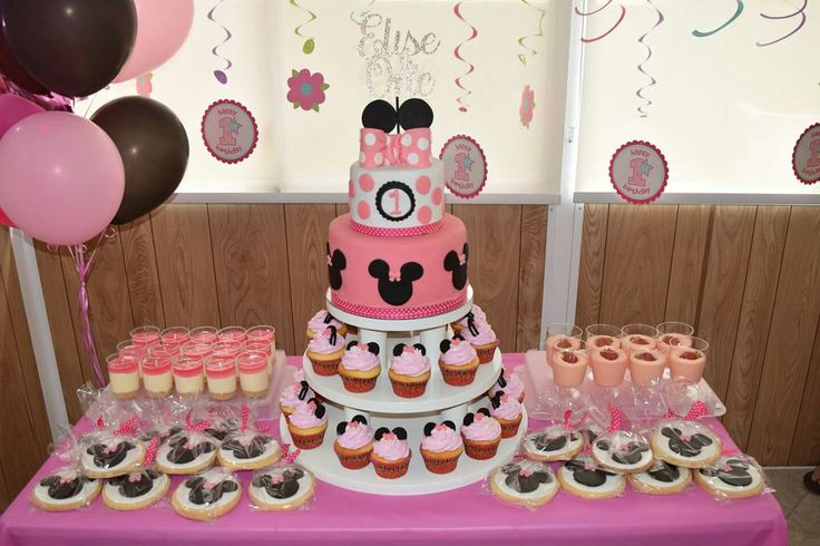 Minnie mouse cake table!