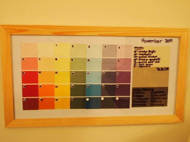 Dry Erase Calendar Canada : Best ideas about paint sample calendar on pinterest