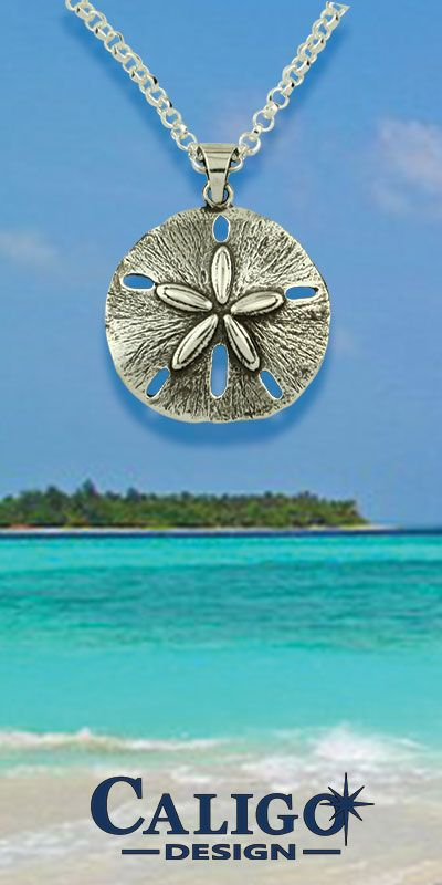 Sand Dollar Pendant Necklace - Sterling Silver
