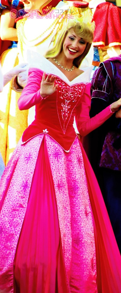 Disney -- Sleeping Beauty - Aurora Cosplay Costume Version 03