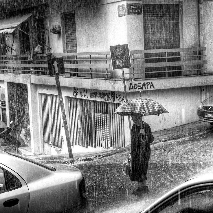 """Heavy rain"" by StamatisGR   RedBubbleRain Pin, Rainy, Buy Umbrellas, Stamatisgr, Heavy Rain, Beautiful Photography"