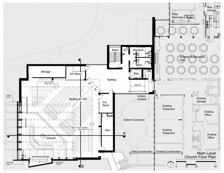Church Sanctuary Floor Plans Part - 30: First Congregational Church, United Church Of Christ Sanctuary /  Constantine George Pappas AIA Architecture/