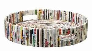 recycled magazine tray!