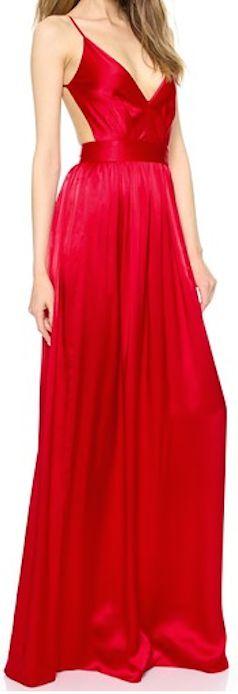 Stunning red long dress