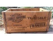 Harley Davidson XL Wooden Crates. AL0246