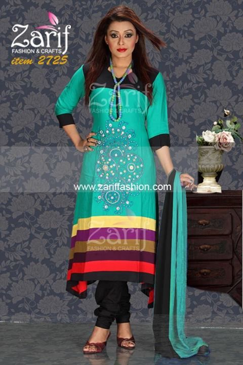 Eid Salwar kameez with gorgeous fancy embroidery work feautring lilen fabric. contrast orna and salwar comes with dress.
