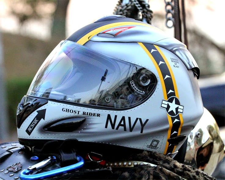 Masei US NAVY 802 Full Face Motorcycle Helmet - Free Shipping Worldwide
