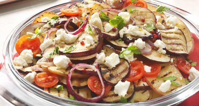 Zomerse salade met gegrilde groenten om 't hele jaar door te eten - Culy.nl