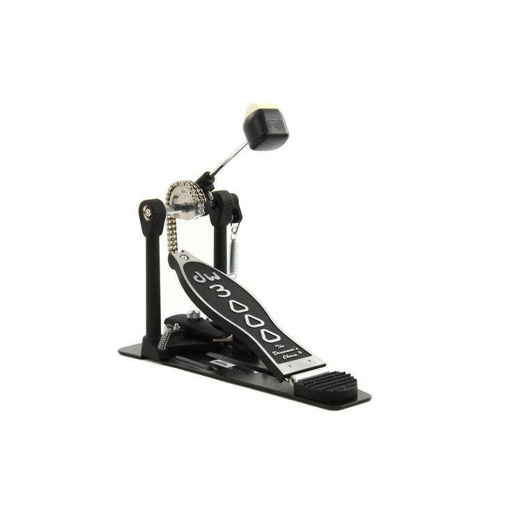 The 3000 series bass drum pedals are designed for any drummer. It features ual-chain Turbo drive, bearing rocker assembly, 101 2-way beater and heavy-duty all-metal construction. Features & Technical