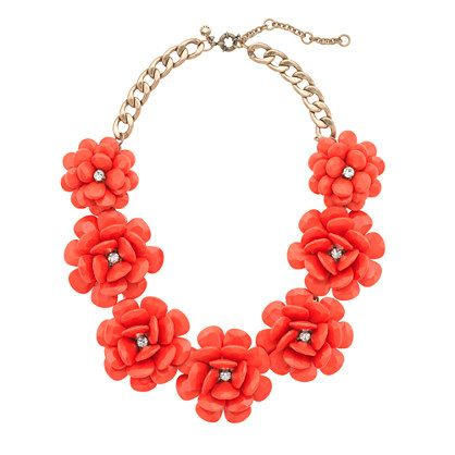 Beaded rose necklace/