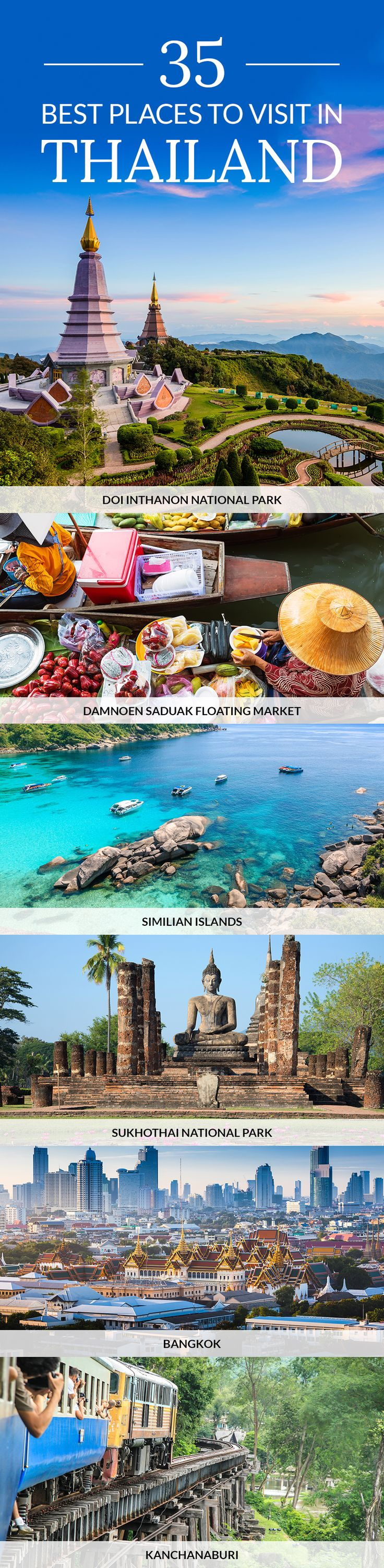 Discover the Best Places to Visit in Thailand. Find the best things to do and see in #Thailand with the help of our travel guide.