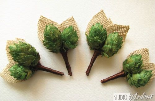 Hops Boutineers and other ways to make beer part of your wedding