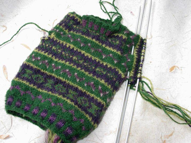 48 best FairIsle images on Pinterest   Fair isle knitting, Fair ...