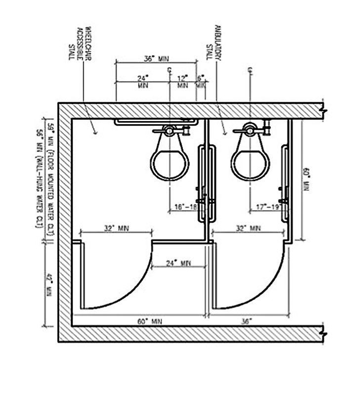 Bathroom Stall Dimensions Bathroom Dimensions
