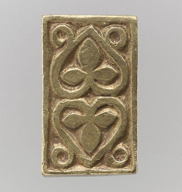 Gold Slide for a Belt or Strap  Date:700s Culture:Avar Medium:Gold-The treasure…