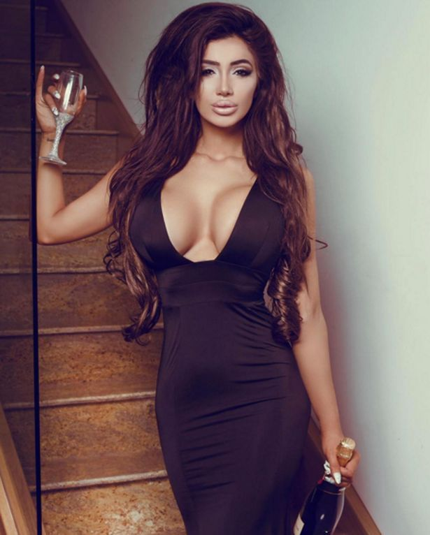 First seen on X Factor UK, Celebrity Big Brother Housemate Chloe Khan is now a glamour model and self mad business woman. She looks super hot in the black dress which highlights a body, hair and boobs. Fashion style.