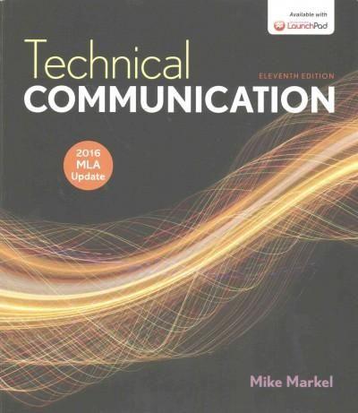 Technical Communication: 2016 MLA Update
