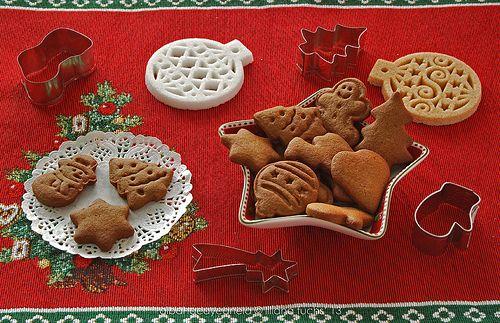 Galletas navideças de gengibre. - Gingerbread rye cookies
