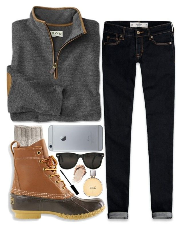 """time is frozen."" by marinampetrillo on Polyvore featuring Abercrombie & Fitch, Toast, L.L.Bean, Chanel, Lord & Berry, women's clothing, women's fashion, women, female and woman"