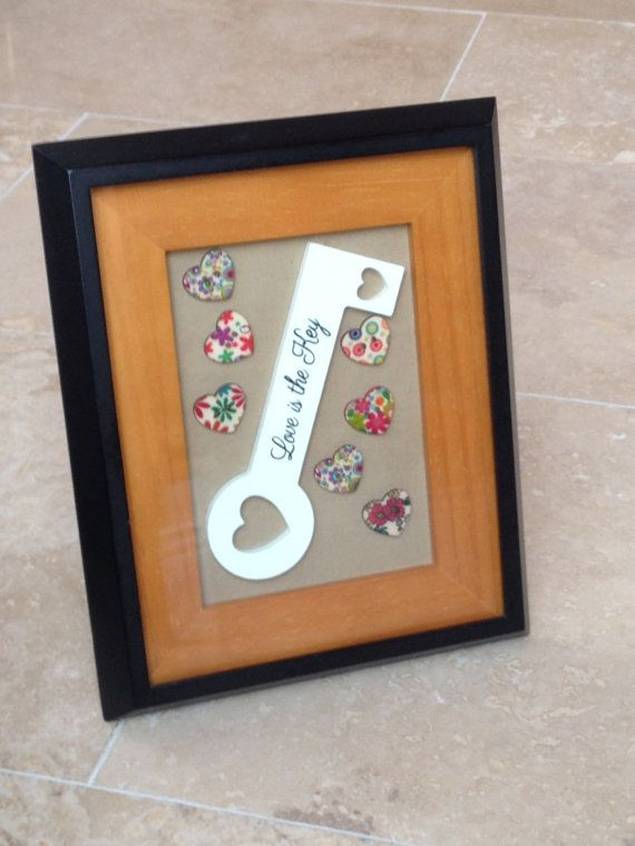 love is the key picture frame wall hanging home by IantheFrames