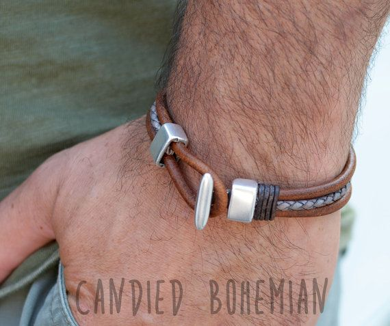 Candied Bohemian Mens Bracelets. Mens Jewelry, Jewelry for Men, Mens Accessories, Cool Stuff for Men, Boho Men, Bohemian Men, Hippie Style, Mens Fashion,Mens Style, Dope Men, Men with style, Mens with class, Check out this item in my Etsy shop https://www.etsy.com/listing/456342774/mens-leather-bracelet-leather-bracelets